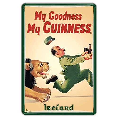 Guinness Official Merchandise Quality Epoxy Magnet With Lion Design