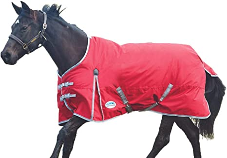 WeatherBeeta ComFiTec Classic Combo 300G Turnout Rug Red//Silver//Navy