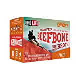 Beef Bone Broth Powder by LonoLife, Grass Fed, 10g Collagen Protein, Keto & Paleo Friendly, Low-Carb, Gluten Free, Single Serve Cups (.53oz ea) - 10 Count
