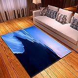 CMYKYUH Alfombra Salon Puesta de Sol sobre el mar 160 x 230 cm...