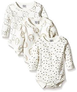 Care Body Bebé-Niños pack de 3 Marfil (Offwhite 200) 0 mese (Talla del fabricante: 50)