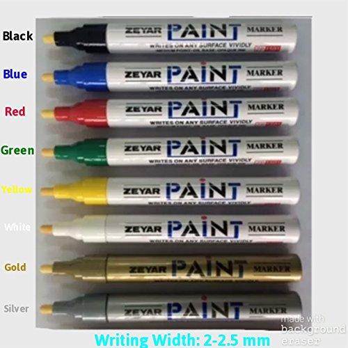 Rot 2–2,5mm Universal Wasserfest Permanent Marker Paint Pen Öl