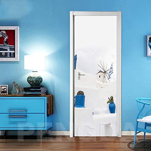 Deurschildering Trappen 3D Mooie schilderachtige ideeën Fotobehang Huis Woonkamer Muurschildering Inclusief Plakken, Woondecoratie - Muurstickers, Verwijderbare waterdichte vinylstickers