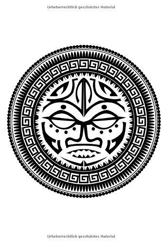 MAORI TATTOO JOURNALS: Maori Maske. Punktraster Notizbuch A5. Softcover, 120 Seiten Punktkariertes Papier. Bullet Journal, Notizheft, Skizzenbuch, ... Dot Grid Notebook. Perfektes Geschenk.