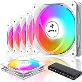 upHere SYNC ARGB - Ventilador para PC de 120 mm, silencioso, de alto rendimiento para refrigeración PC, NT123+3-5