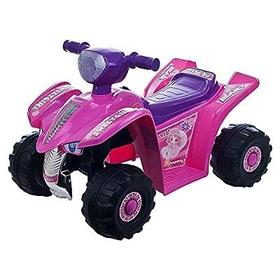 Lil' Rider Pink Princess Mini Quad Ride-on Car Four Wheeler by tm global