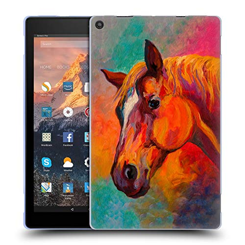 Officiële Marion Rose Bandiet Paard Soft Gel Case Compatibel voor Amazon Fire HD 10 (2017)