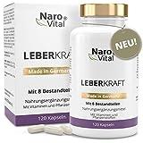Mariendistel - 80% Silymarin, Artischocken, Löwenzahn, Curcuma, Cholin & Desmodium - Komplex für die Leber (wichtigstes Entgiftungs-Organ) - 120 Kapseln...