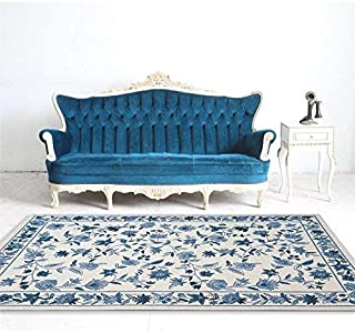 colonial ivory blue floral area rug