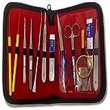 Dr. James 1008 - Kit de disección de alta calidad para estudiantes, acero inoxidable (Pack de 14)