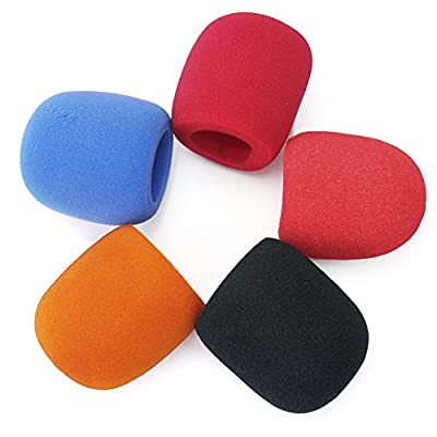 5 Pieces Cute Sponge Foam Covers Windscreen Windshield for Handheld Microphone