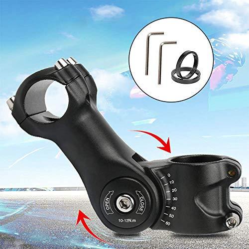 HOOMAGIC Potencia 31.8mm 110 mm Vástago de Manillar para Bicicletas ±60° Regulable Vástago de Bicicleta para Bicicleta de Montaña, Bicicleta de Carretera