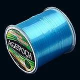 QiuGe Angelschnur japanische Material Monofil Karpfen Angelschnur 6.0# 0.40mm 15.5kg Tension 500 Extra Strong Imported Rohseide Nylon Angelschnur (Grass Gelb) (Color : Blue)