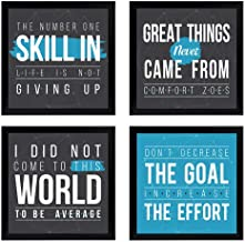Chaka Chaundh - Motivational Quotes Frames – Motivational Poster for OFFICE WALL, SCHOOL, STUDY ROOM, COLLEGE, INSTITUTE, STUDENT, ENTREPRENEUR, CLASSROOM & HOME - Motivational Frames For Office - Motivational Room & Home Quotes Decor - Motivational Quotes Gifts - Motivational Quotes Art Frames - Motivational Wall Decor - (23 cm x 23 cm x 4 cm) - Set of 4 - Combo Quotes Frames