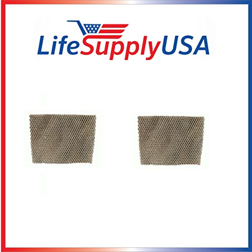 LifeSupplyUSA 2 Humidifier Filter Water Panel Pads Compatible with Aprilaire Humidifier Furnace Models 400, 400A, and 400M, Compare to Aprilaire Part # 45