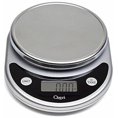 Ozeri ZK14-S Pronto Digital Multifunction Kitchen and Food Scale, 8.25, Black