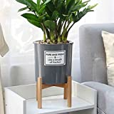 NAMYA Soporte para plantas moderno de pie estante de exhibición de madera para la oficina, maceta de jardín, decoración del hogar, estante mediados no tambaleante interior y exterior Bonsai (L)