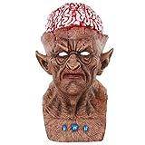 Máscara assustadora Amosfun Halloween demônio demônio sangue explosão cérebro monstro zumbi palhaço máscara assustadora Halloween fantasias horrible adulto látex rosto inteiro respirável Halloween máscara