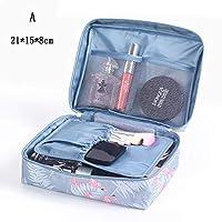 携帯用大容量化粧品バッグ旅行オーガナイザーバッグ多機能化粧ビューティーウォッシュトイレテラメイクアップバッグ (Color : A 1)