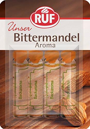 RUF Backaroma Bitter-Mandel zum Aromatisieren von 500g Teig oder 500ml Flüssigkeit, 20er Pack (20 x 4 x 2g Packung)