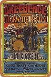 OSONA Creedence Clearwater Revival In Concert Retro nostálgico arte tradicional color óxido logotipo de lata publicidad llamativa decoración de la pared regalo