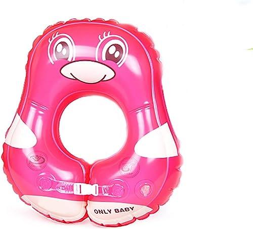 Anneau de natation de siège de flotteur de bain gonflable de bébé, anneau réglable de natation pour bébé, ajusteHommest 3 mois-3 ans enfants Garçons et filles,powderpenguin