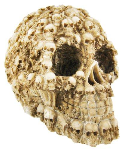 YTC Summit International Human Skull Decorated with Skeletons and Skulls Halloween Figurine