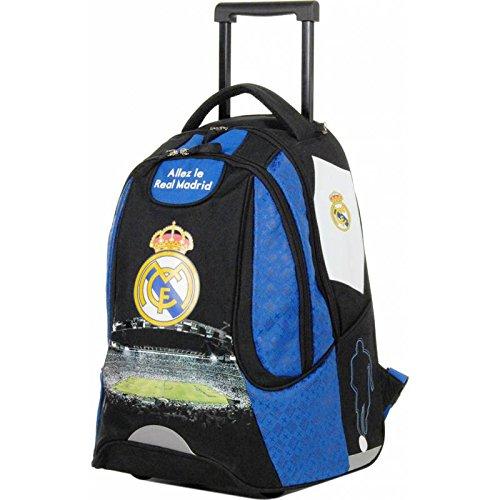 Real Madrid Mochila Roulette Mixta niño, Azul, 47cm