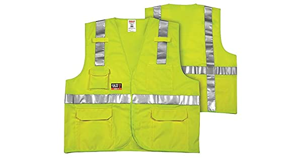 JOB SIGHT FR V81832.S-M Class 2 Solid Vest Dummy Code for Tools Small//Medium Fluorescent Yellow//Green Trumbull Industries