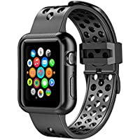 Pobon Compatible for Series 5 Series 4 Apple Watch 44mm Band Case