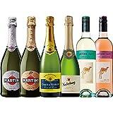 【クリアランス】シャンパン入りスパークリングワイン飲み比べ 6本セット フランス イタリア オーストラリア アルゼンチン [ スパークリング 辛口 750mlx6本 ]