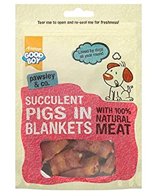 ARM Dog Treats Pigs In Blankets Healthy Good Boy Pawsley 80gx10Packs