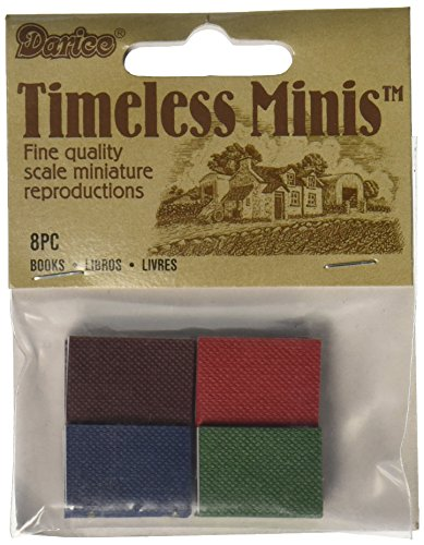 Darice Timeless Minis(tm) - Assorted Books - .625 x .875 inches, Multicolored, 8 Pieces