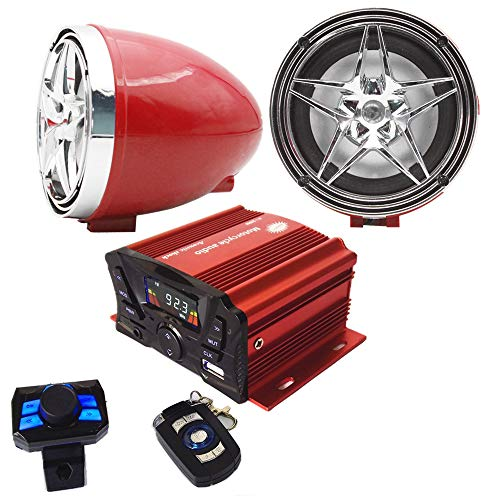 Review Of 12V Motorcycle Waterproof FM USB 4 Channel 3 Inch UTV ATV Bluetooth Amplifier Sound System...