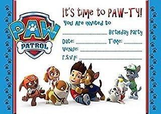 PAW PATROL CHILDRENS BIRTHDAY PARTY INVITES INVITATIONS X 20 PACK