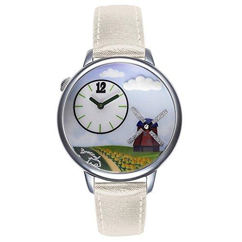 Horloge voor dames, ansichtkaarten, Nederland, 3D, lichtblauw, 180 / AB
