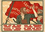 Poster vintage della propaganda russa 'Long live the 3rd Communist International', 1920, riproduzione 200gsm A3 vintage comunista russo propaganda