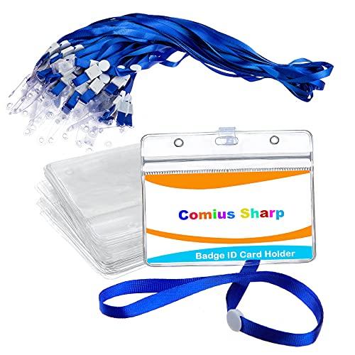 Tarjetero Plastico, Comius Sharp Porta Tarjetas de Claro Plástico de Impermeable Tarjetero Plastico para Tarjetas de Ldentificación de Oficina, Etiquetas de Identificación