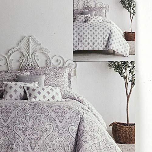 RL Home ARTELIER Nicole Miller Empire Damask 3-pc Duvet Cover Set - Full/Queen Set Includes: Duvet Cover + 2 Shams (100% Cotton)