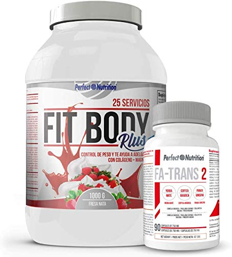 Weight Loss Pack: Meal Replacement Shakes with Protein to Lose Weight. Fat Burner with Collagen + Thermogenic Fat Burner/for Men & Women. Weight Lose (Strawberry & Cream, 1 Kg)