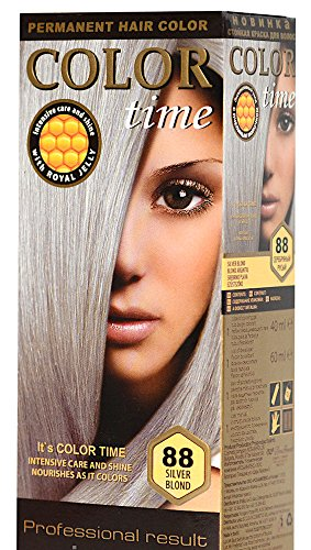 Color Time Haarfarbe Permanent, mit Gelée royale, 88 Silberblond