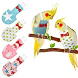 4 Pieces Bird Diapers Flight Suite Liners Washable Reusable Protective Parrot Nappy Clothes with Waterproof Inner Layer Cute Urine Wet Suit for Parrot Macaw Budgies Parakeet (Star Patterns, L)