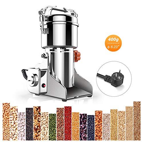 SISHUINIANHUA Elektrische Lebensmittel Mahlwerk Edelstahl Swing Fräsmaschine Kleine Pulver Mahlen Automatische Home Commercial Mehl Mühle Maschine