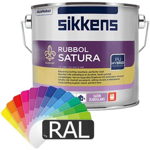 Sikkens Rubbol Satura (alle RAL-Farben) 2,5l - getönt nach RAL-Farbton (RAL 9010 Reinweiß) - auch andere