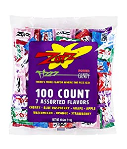 Zotz Fizzy Candy Bag, Assorted Flavors, 100 Count Bag by Andre Prost, Inc.