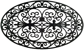 Imports Decor Rubber Doormat, Oval, 18-Inch by 30-Inch
