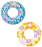 Bestway 36057 baby swim float - flotadores para bebé (Swim ring, Azul, Amarillo, Pattern, Vinilo, China, Polybag with insert card) , color/modelo surtido