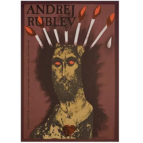 FACAIA Andrey Rublyov Rublev Andrei Tarkovsky Filme vintage russo pôster decorativo tela arte de parede presente - 50 x 70 cm sem moldura