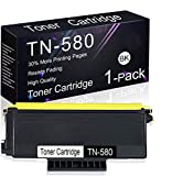 Compatible Toner Cartridge 1 Pack Black TN-580 Replacement for Brother MFC-8690DN, MFC-8680DN, MFC-8670DN, MFC-8660DN, HL-5370DW/DWT, HL-5270DN, HL-5240, DCP-8060, DCP-8065DN, DCP-8080DN Printers.
