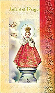 William J. Hirten Deluxe Catholic Holy Card with Traditional Prayers (Infant of Prague)